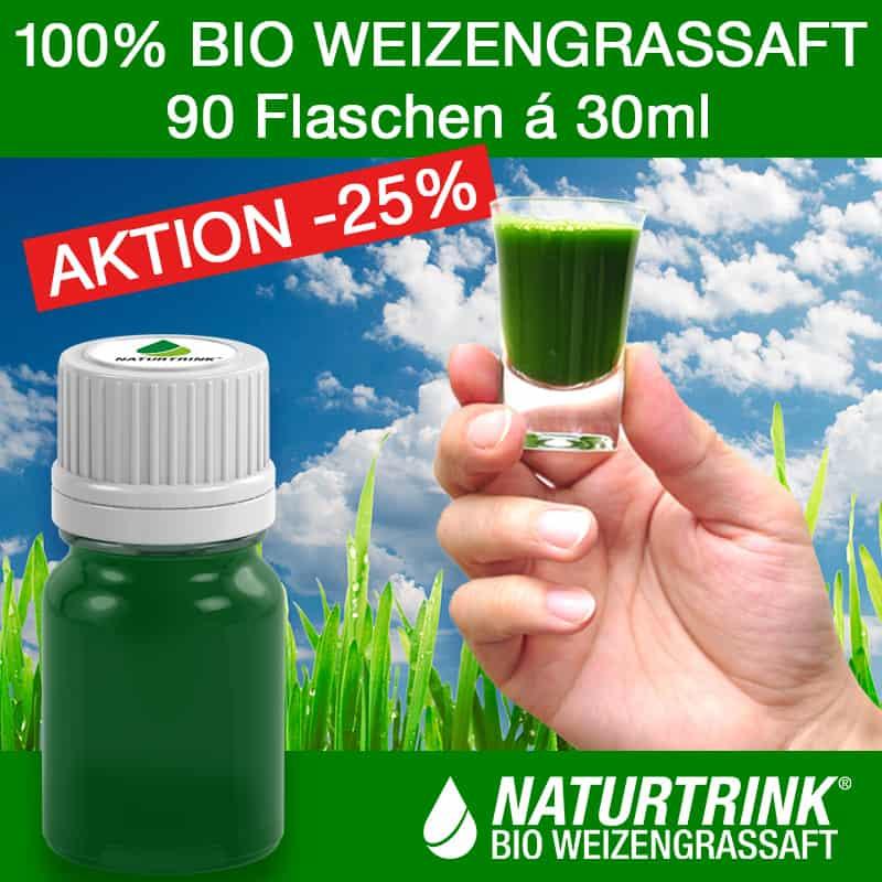 Weizengrassaft von Naturtrink kaufen 90x 30ml