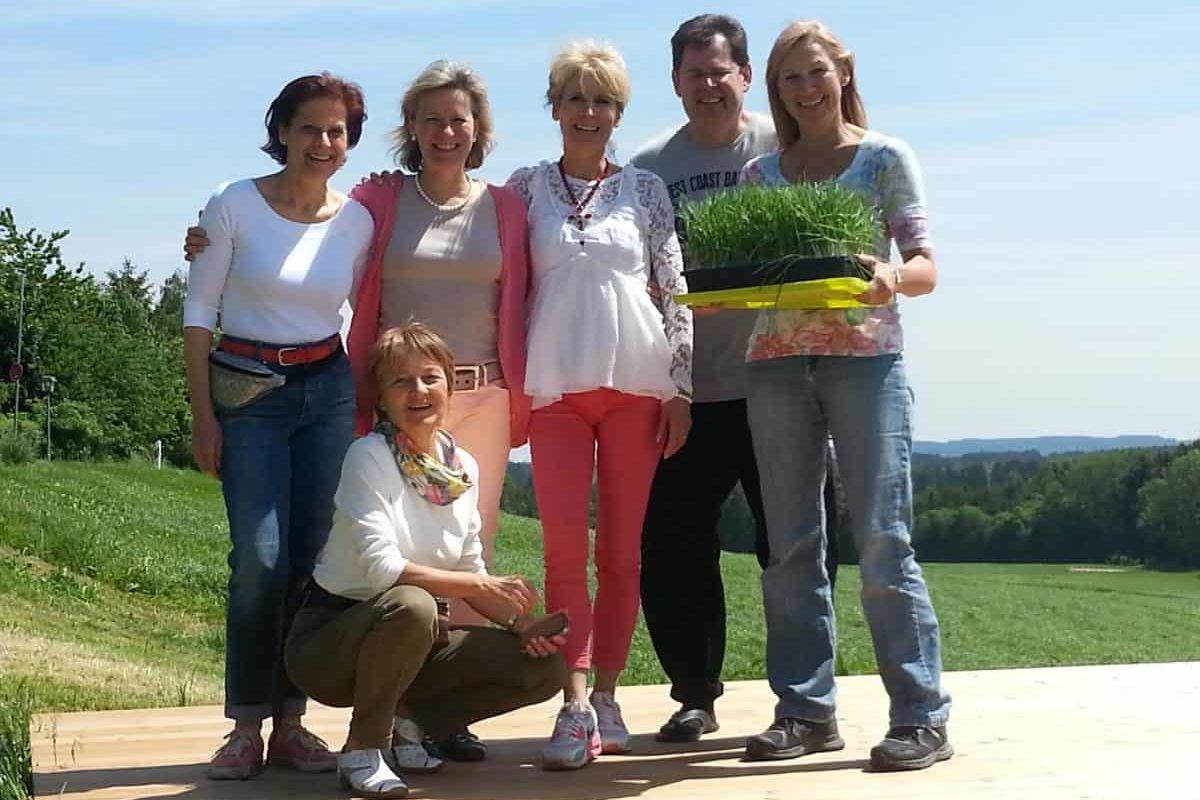 Weizengras gegen Krebs Teilnehmer Seminar